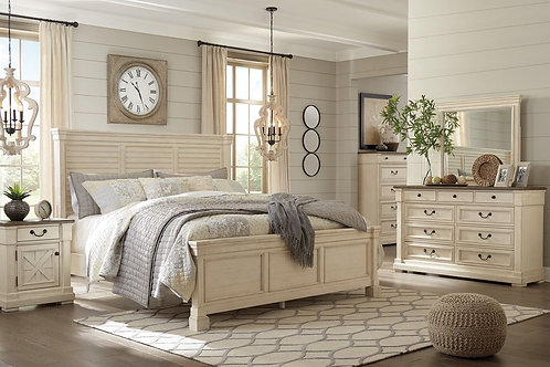 Bolanburg - Two-tone - 6 Pc. - Dresser, Mirror, Chest & King Louvered Bed