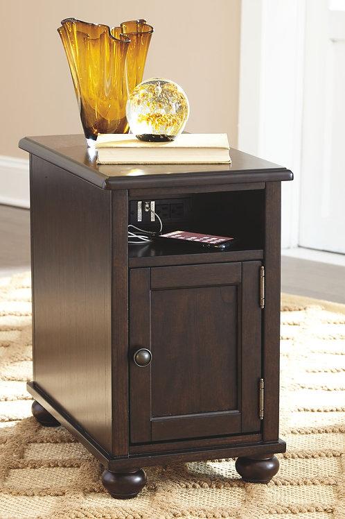 Barilanni - Dark Brown - Chair Side End Table