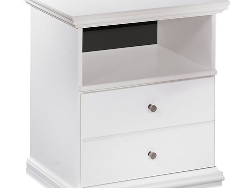Bostwick Shoals - White - One Drawer Night Stand