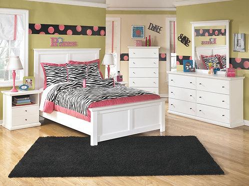 Bostwick Shoals - White - Dresser, Mirror & Full Panel Bed