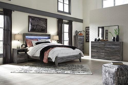 Baystorm - Gray - 5 Pc. - Dresser, Mirror, Chest & Queen Panel Bed