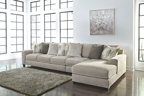 Ardsley - Pewter - LAF Sofa, Armless Chair & RAF Corner Chaise Sectional