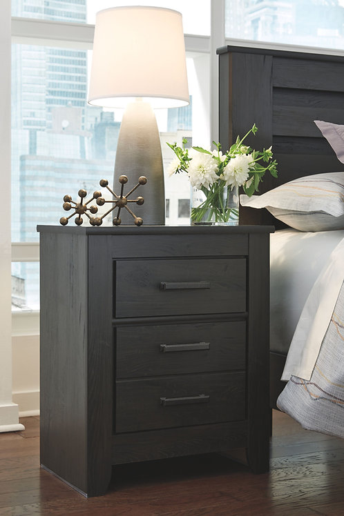 Brinxton - Charcoal - Two Drawer Night Stand