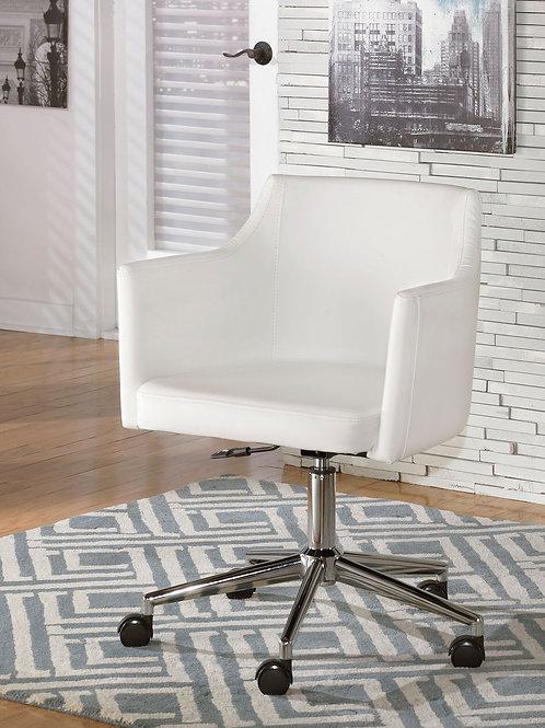 Baraga - White - Home Office Swivel Desk Chair