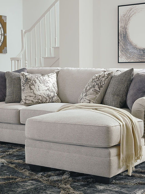 Dellara - Chalk - 2-Piece Sectional with Chaise