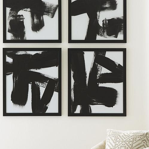 Doro - Black/White - Wall Art Set (4/CN)
