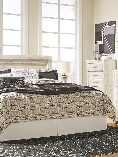 Bellaby - Whitewash - 4 Pc. - Dresser, Mirror, Chest & King Panel Headboard