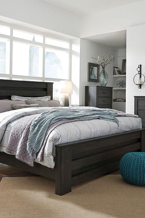 Brinxton - Black - 5 Pc. - Dresser, Mirror & King Panel Bed