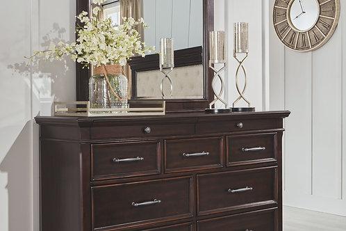 Brynhurst - Dark Brown - Dresser & Mirror