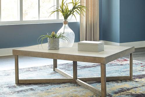 Challene - Light Gray - Rectangular Cocktail Table