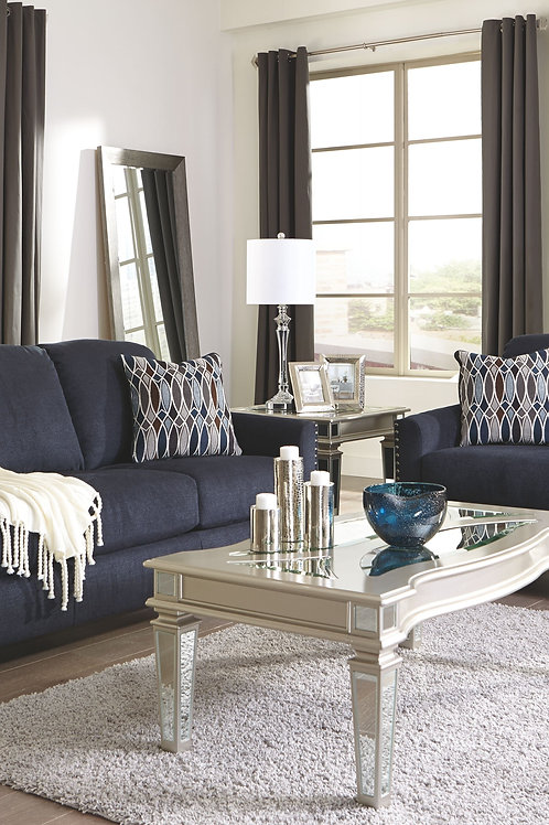 Creeal Heights - Ink - Sofa, Loveseat, Tessani Cocktail Table & 2 End Tables