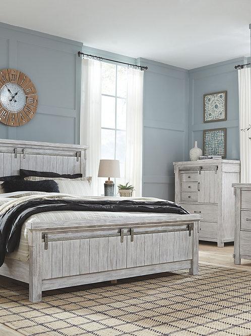 Brashland - White - 6 Pc. - Dresser, Mirror, Chest & California King Panel Bed
