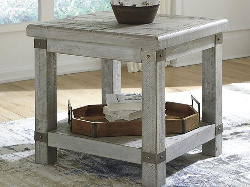 Carynhurst - White Wash Gray - Rectangular End Table