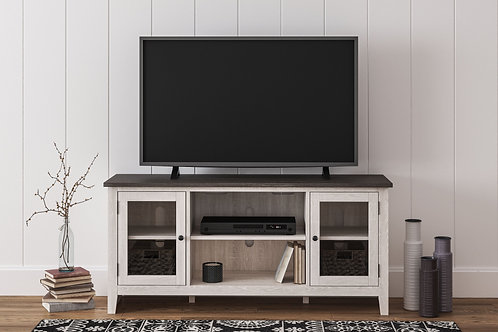 Dorrinson - Two-tone - LG TV Stand w/Fireplace Option