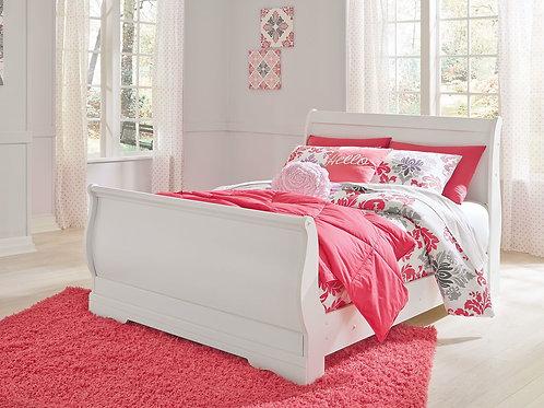 Anarasia - White - Full Sleigh Bed