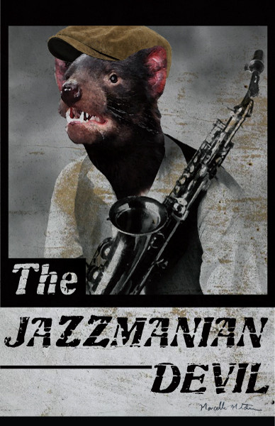 The Jazzmanian Devil designed by Marcelle Mitchener