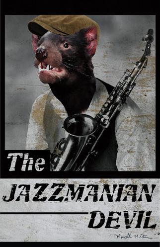 The Jazzmanian Devil designed by Marcelle Mitchener