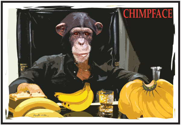 Chimpface Designed by Marcelle Mitchener