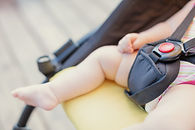 Baby safety protection concept with red