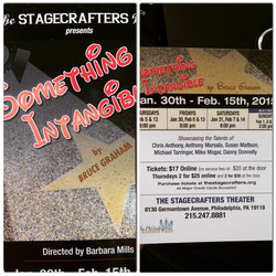 _Something Intangible_ by Bruce Graham opening at #stagecrafterstheatre at the end of January! #phil