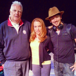 Aimee and I with our special guest narrator for the show for the first week, ESPN's and Golf Channel
