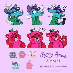 Furry Amino Stickers