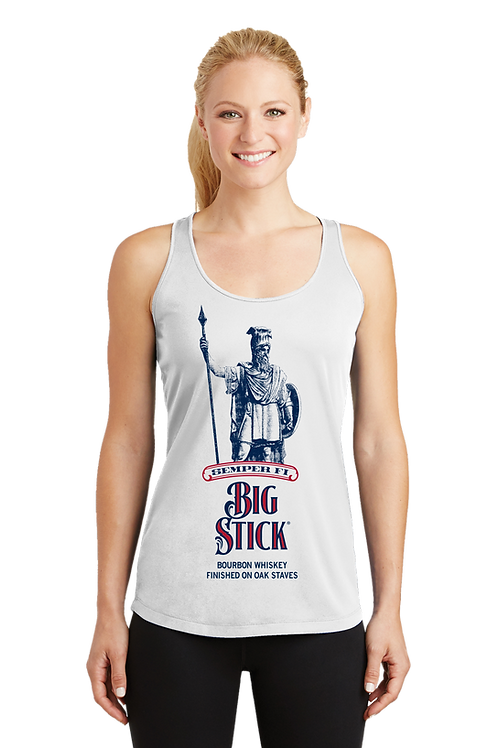 Big Stick Bourbon - Women's Dry Fit Tank Top in White