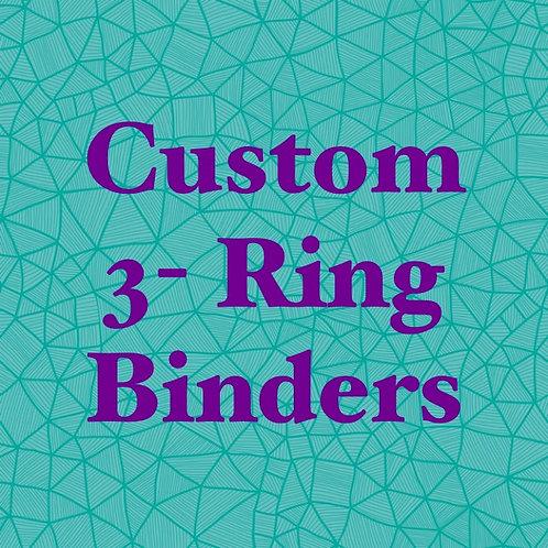 3 inch Custom 3-Ring Binder