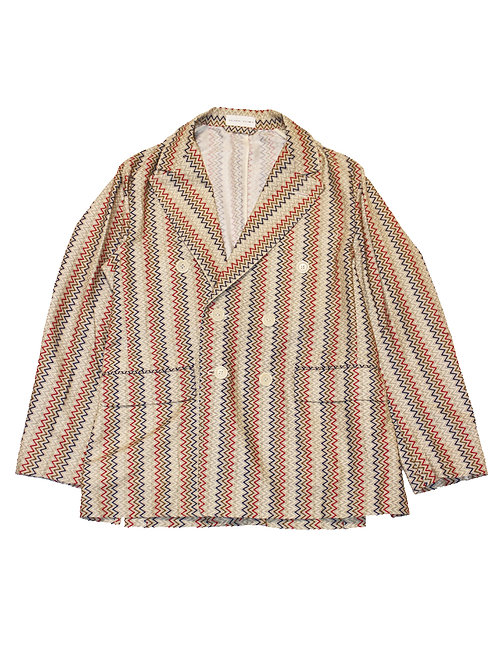 【30%OFF】DOUBLE BREASTED JACKET - CHEVRON PATTERN