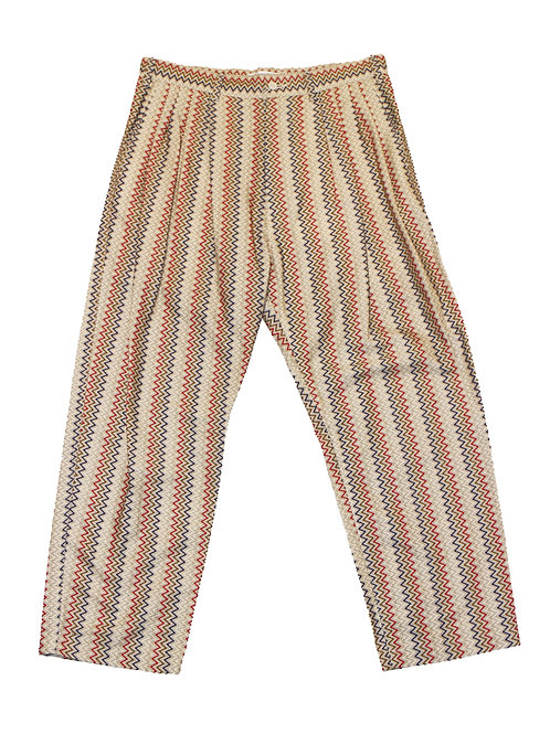 【30%OFF】MODERN 4-PLEATED WIDE PANT - CHEVRON PATTERN