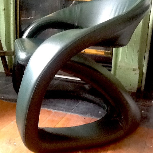 1969 Hunter Green Chair French - PAIR