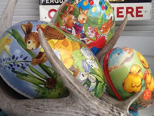 Papier-mâché Easter eggs