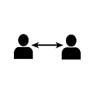 physical distance covid icon