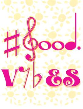 #good vibes pink/orange