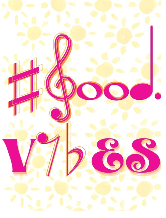 #good vibes pink/orange
