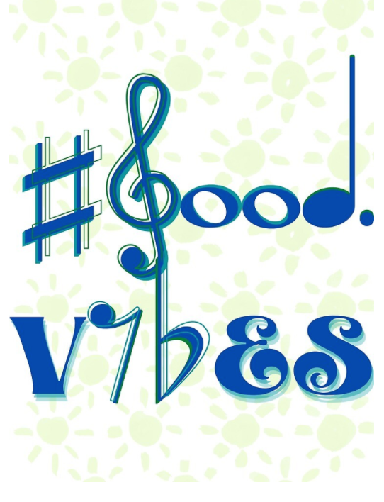 #good vibes blue/green