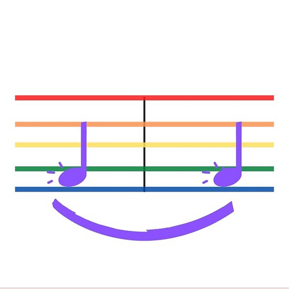 Music Makes Me Smile Rainbow