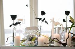 Черные розы в оформлении свадьбы
