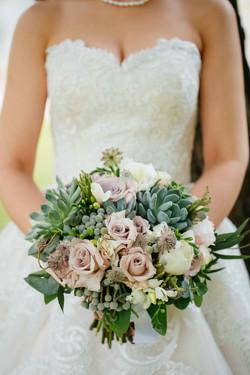 Букет Невесты с Сукулентами