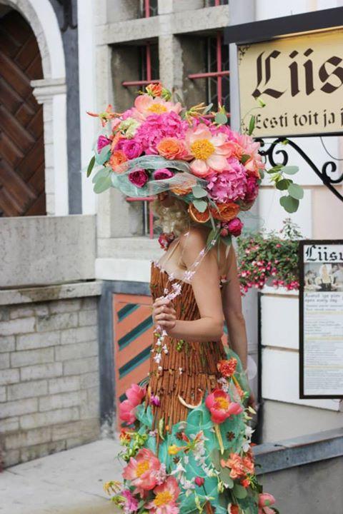 flower Dress in Old Tallinn