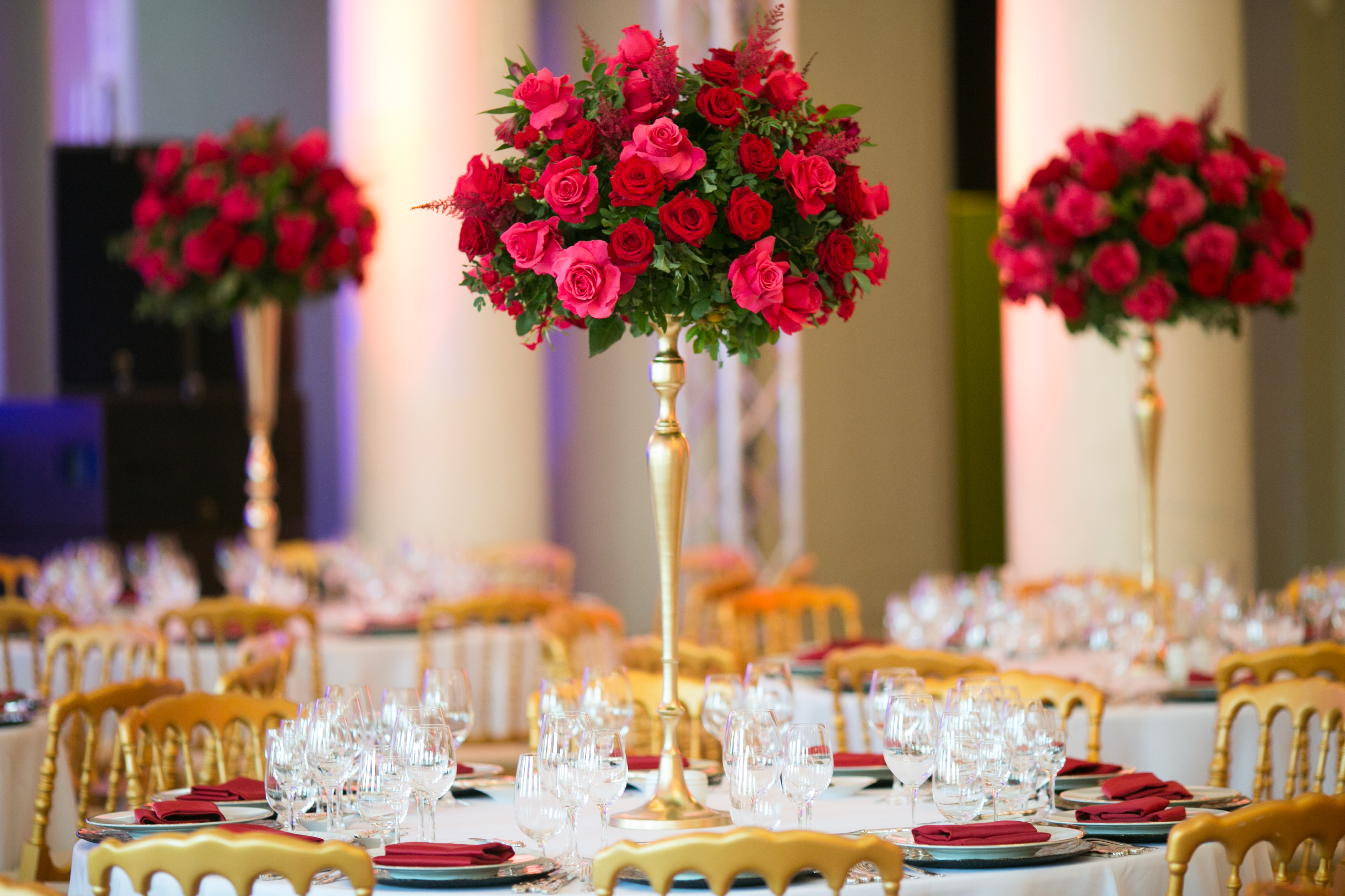 декор свадьбы в Юсуповском Дворце