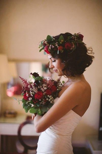 Букет и венок невесты