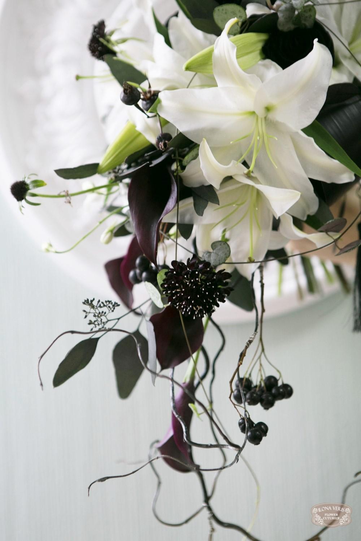 черно-белая свадьба, черные каллы