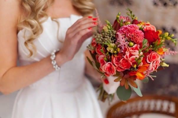 Стильный букет невесты