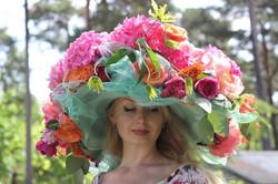 Шляпа из Живых цветов Илона Верис