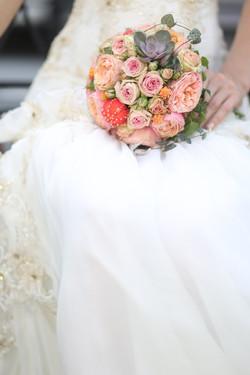 Букет невесты с кактусами