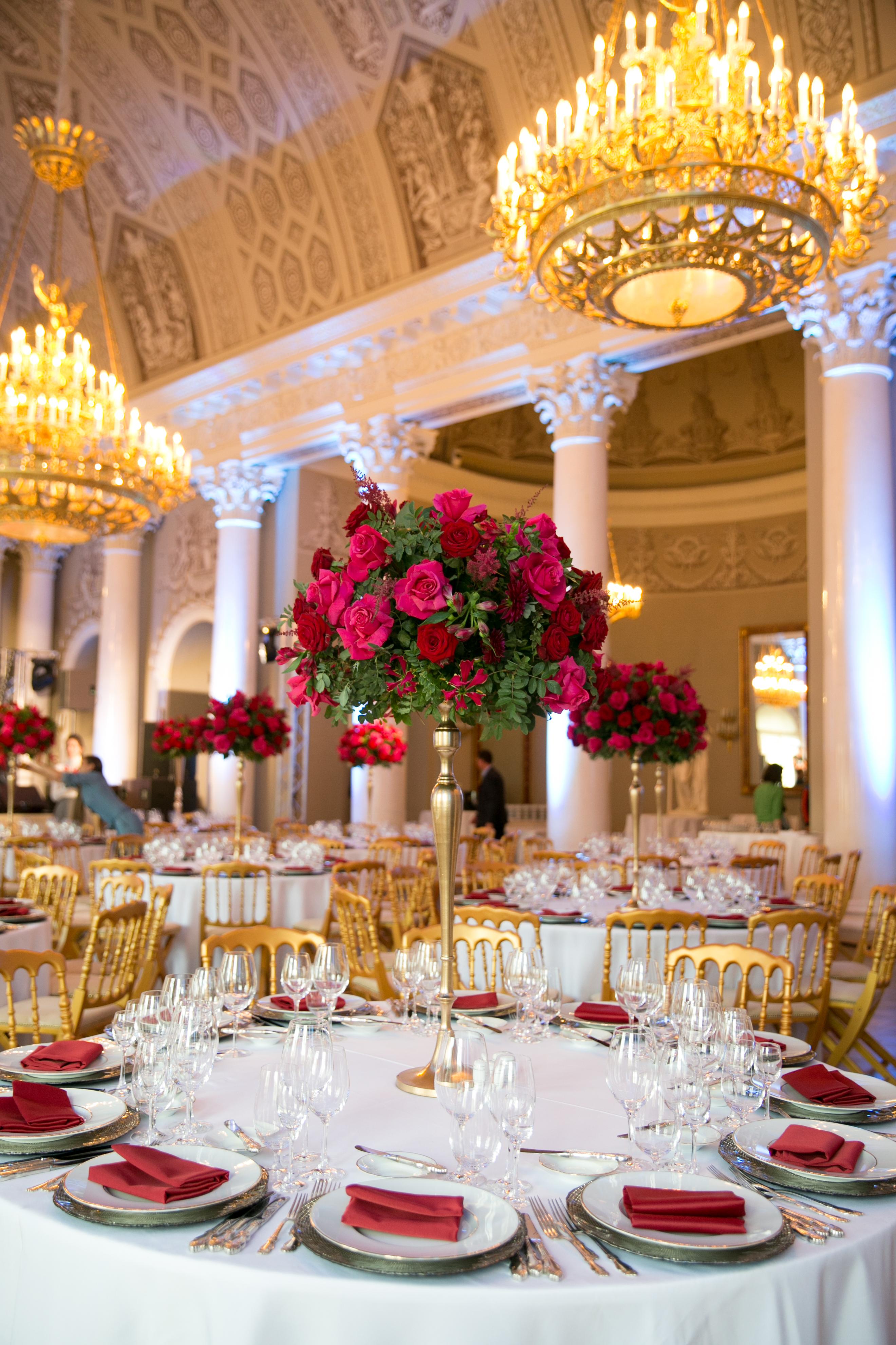 декор цветами в Юсуповском Дворце