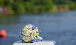 Готубой букет невесты