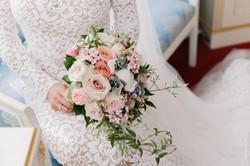 Букет невесты, роза мента