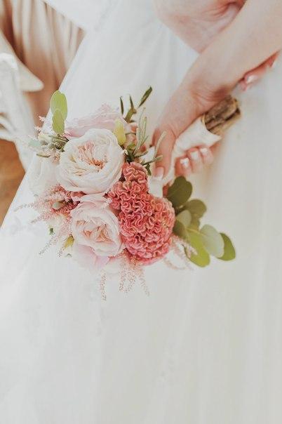 Букет невесты с целозией